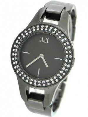 Relógio Armani Exchange Gun Metal Bracelet Ladies Watch - AX4093 #Relógio #Armani Exchange