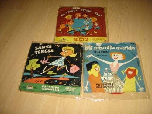 Coleccion de discos infantiles Calesita. Tenia algunos cantados por Alberto Closas.