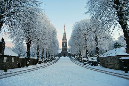 Wide angle view of St Malachy's Church, Hillsborough, Northern Ireland, GB