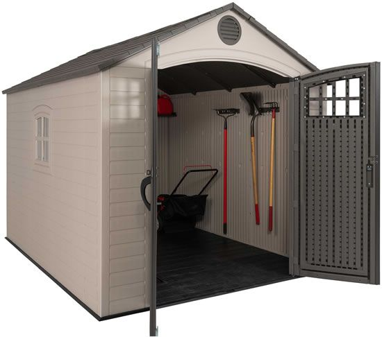 Lifetime 8x10 Storage Shed Kit W Horizontal Siding 60238 Outdoor Storage Sheds Shed Storage Shed Kits