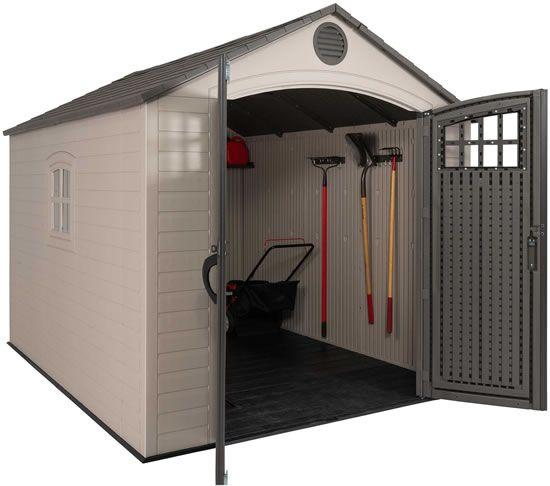 Lifetime 8x10 Storage Shed Kit W Horizontal Siding 60238 Outdoor Storage Sheds Shed Storage Shed Kits