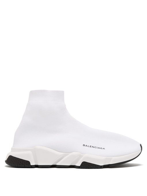 Balenciaga Speed Sock Stretch-knit Slip