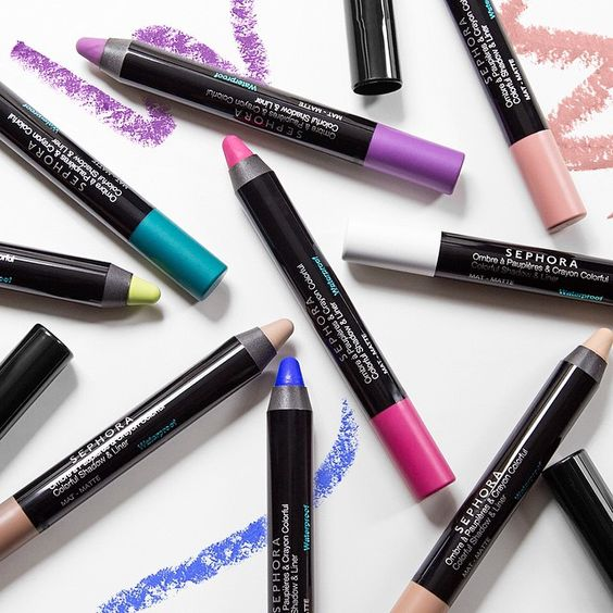 Match your bathing suit to your eye makeup! #SEPHORACOLLECTION Waterproof Jumbo Shadow & Liners inspire our colorful side.