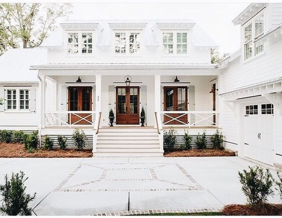Colonial Home white exteriors