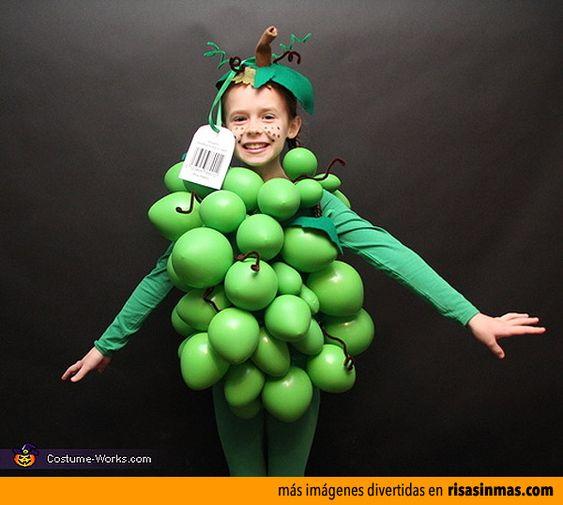 Disfraces originales: Racimo de uvas.: