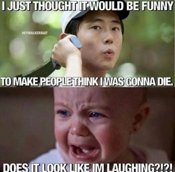 The Walking Dead funny meme. Glenn's death