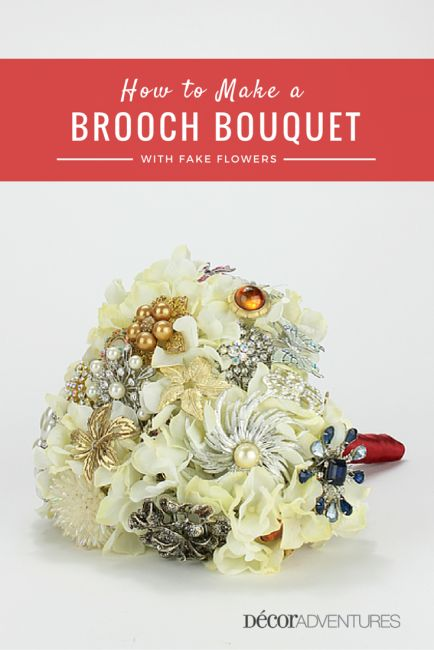 Follow these easy steps, all with pictures on How to Make a Brooch Bouquet. Click through for the details and how to.