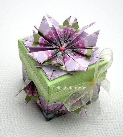 Teabag folding box                                           Small Beauties paper.