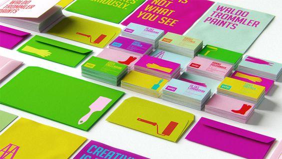 reynolds and reyner: waldo trommler paints identity: Graphic Design, Business Cards, Paints Reynolds, Brand Identity, Corporate Identity, Business Card Design