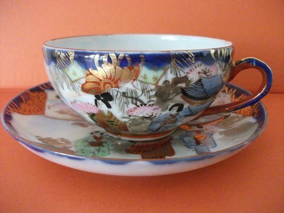 Antique Cup and Saucer ♥ by RevolvingStore on Etsy, $24.00