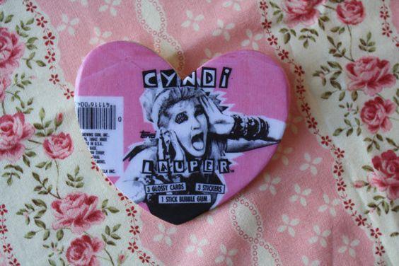 Cyndi Lauper Bubblegum PinBack by LovelyGirlHearts on Etsy, $5.00