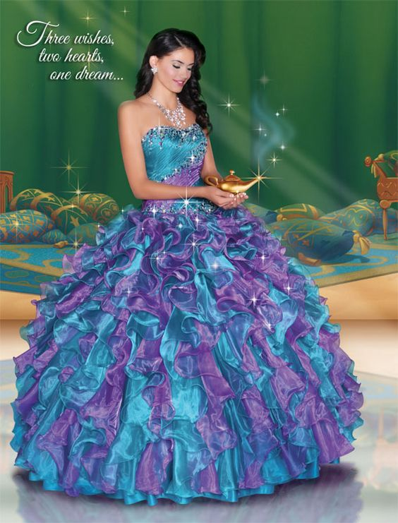 Quinceanera Dresses by Disney Royal Ball - Jasmine 41045