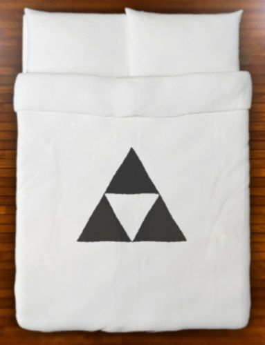 Legend of Zelda Triforce Duvet Cover Bedding by SHOWERCURTAINS, $85.00