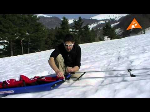 Pulka Snowsled Ice Blue Trail