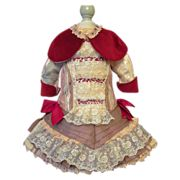 """Wonderful  Bebe dress for your 23"""" French  Doll"""
