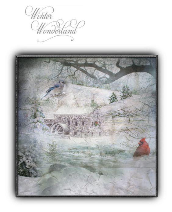 """Winter Wonderland"" by malathik ❤ liked on Polyvore featuring art"