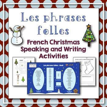 no l french christmas vocabulary speaking and writing activities personal word walls. Black Bedroom Furniture Sets. Home Design Ideas