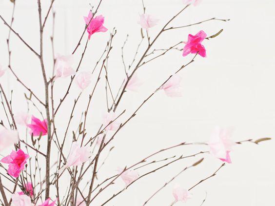 DIY-Anleitung: Strauß mit Kirschblüten basteln via DaWanda.com