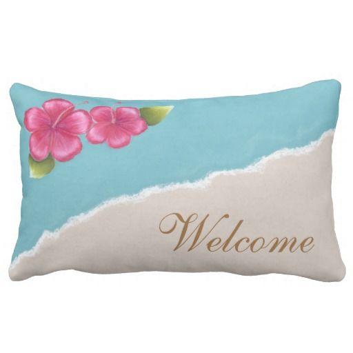 Beach Wedding Throw Pillow Lumbar 13x21