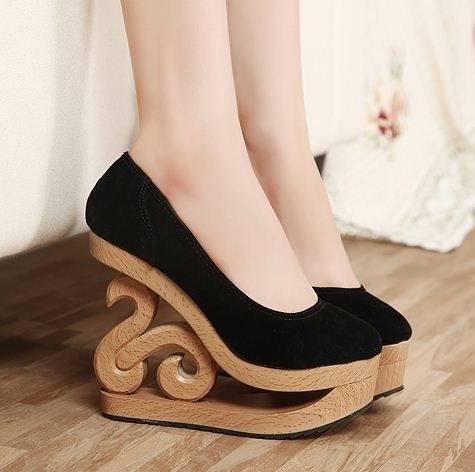 New Korean Styles Ladies High Heel Platform Wedges Shoes Wedge