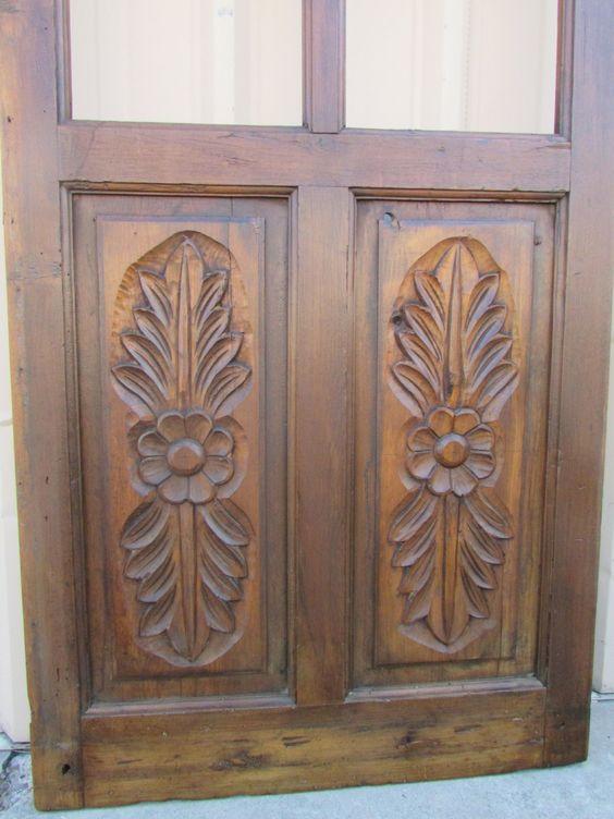Antique mexican carved old door primitive rustic