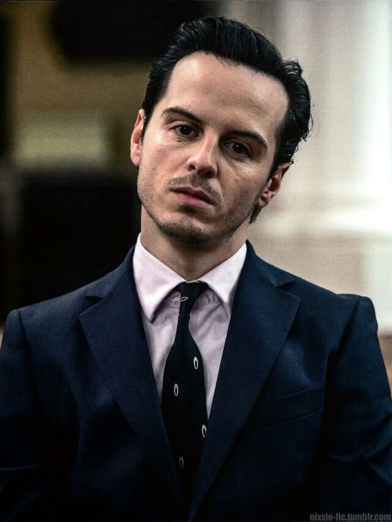 The thing that I love about this picture is how Andrew Scott captures Moriartys dead behind the eyes life is so boring look. <-- I second that.