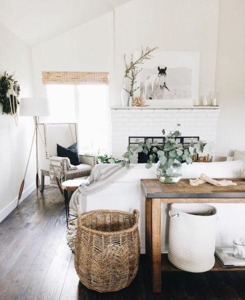 Coastal Living Room With Rustic Beach House Decor Farm House