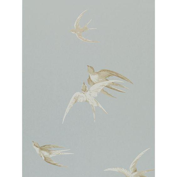 Sanderson Swallows Tapete : Sanderson Swallows Wallpaper Swallows, Wallpapers and John Lewis
