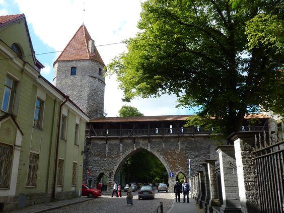 Tallinn, uma das portas da cidade velha