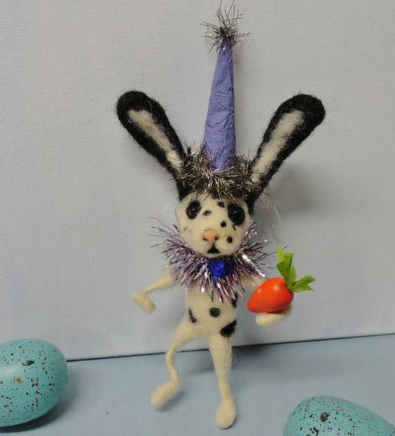 Feather Tree Ornament Easter Bunny Rabbit 7 by ...