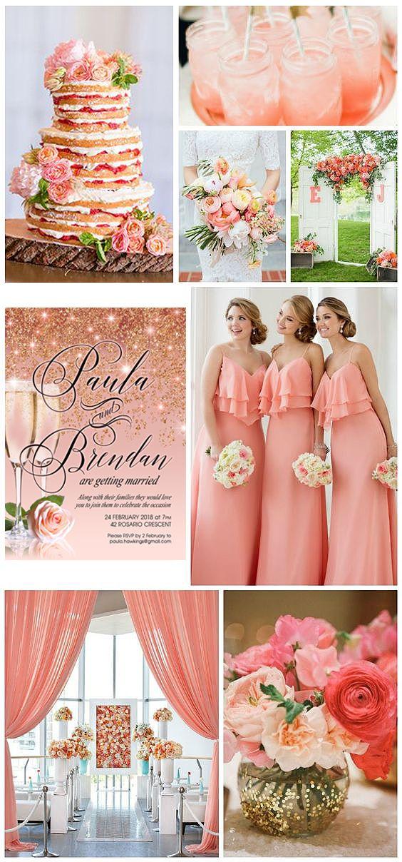 Peach Coral Wedding Coral Wedding Wedding Motifs Peach Wedding