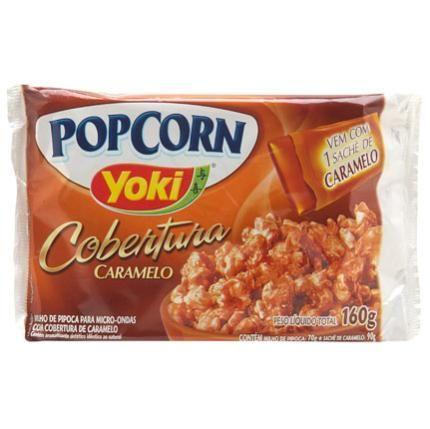 pipoca Yoki cobertura de caramelo! popcorn
