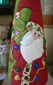 Studio da Berê: Cones de Natal :: patchwork sem agulha no isopor ::