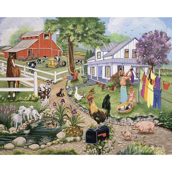 Spring On The Farm 500 Piece Jigsaw Puzzle