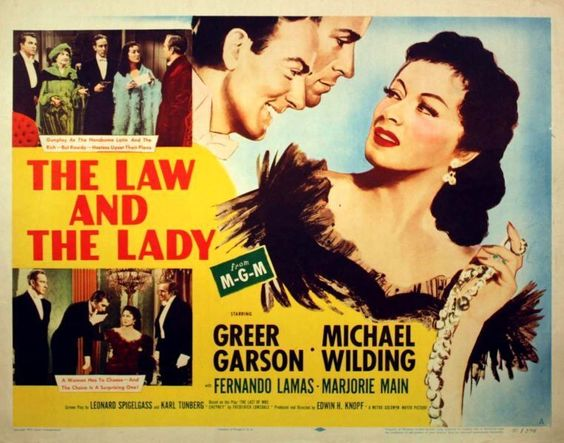 LAW AND THE  LADY - 1951- orig rolled 22x28 Movie Poster - GREER GARSON -Style A