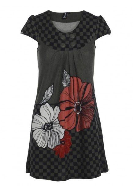 Flower & Check Print Dress by Izabel London at Stylistpick now £15