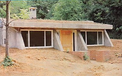 Partially underground earthbag home plans underground for How to build an earth sheltered home