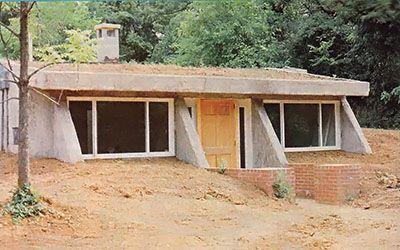 partially underground earthbag home plans underground