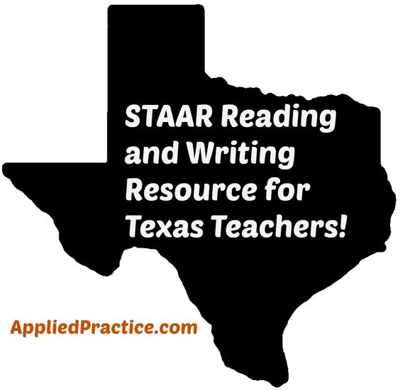 #STAAR Reading and Writing Resources for Texas teachers with correlation to TEKS.  Take the teacher time out of test prep! AppliedPractice.com  #AppliedPractice #edChat #TeacherResources #TexasTeacher