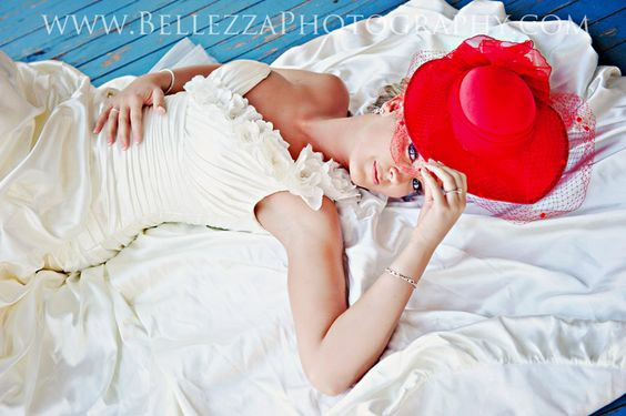 Vintage Red Hat Bride  #red  #redhat