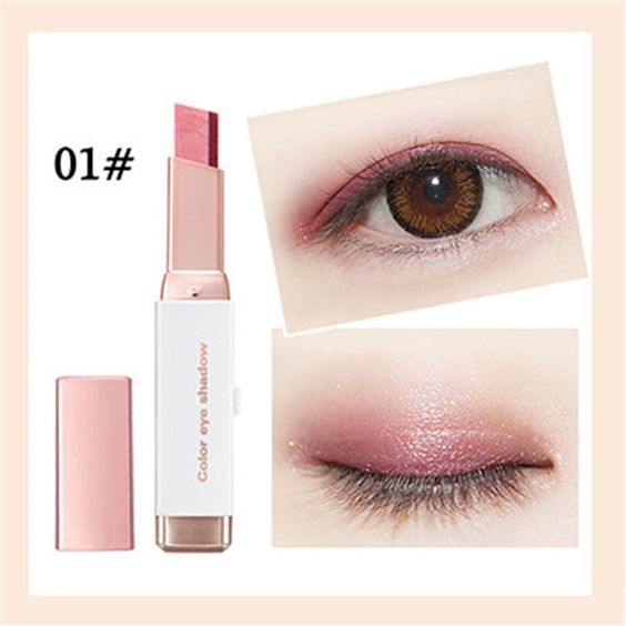 1Pc Double Color Gradient Shimmer Eyeshadow Stick Earth Color Eye Shadow Cream Pen Makeup Palette Cosmetics glitter Eye shadow n