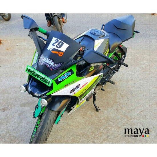 Ktm Racing Style Name And Number Custom Sticker For Ktm Rc Visor