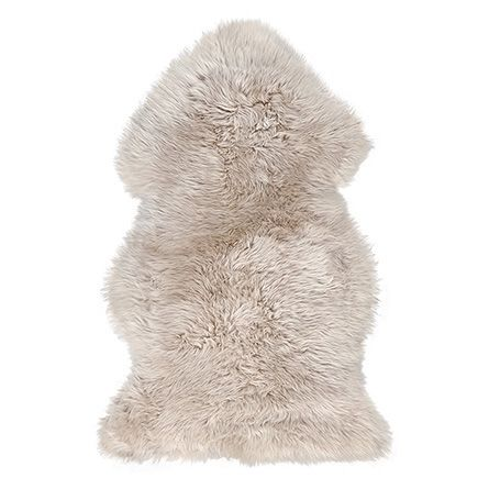 Sheepskin Small Wool Throw In Linen | Arhaus Furniture: