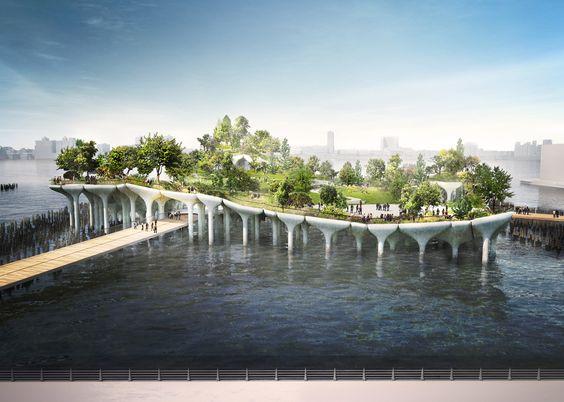 Heatherwick's Pier 55 to begin construction over Hudson River