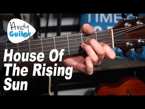 House Of The Rising Sun Guitar Lesson Easy Acoustic Guitar Songs Youtube Guitar Lessons Guitar Songs Guitar