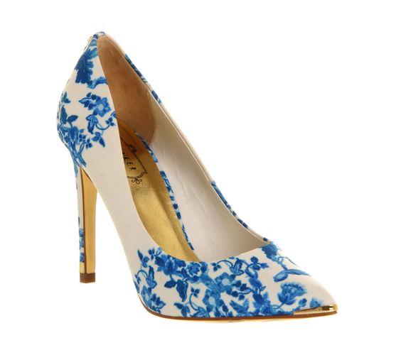Details about Womens Ted Baker Luceey High Heel BLUE SATIN Heels ...