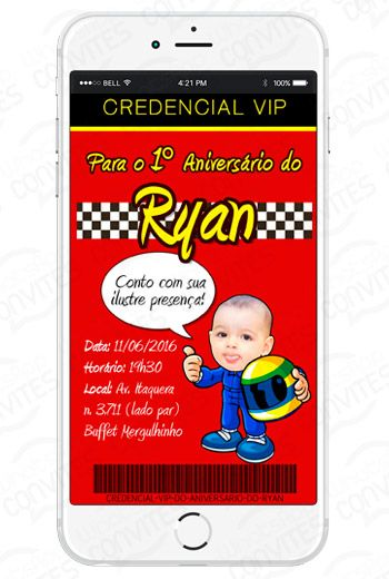 Convite Virtual para WhatsApp e redees sociais Personalizado. com sua foto. Apenas R$ 35,00 acesse o nosso site: http://www.whatsappconvites.com.br