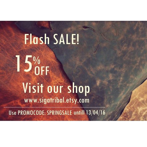 Spring Flash Sale its on !   Use promocode SPRINGSALE to have 15% OFF untill 13 of April  Visit etsy shop link in the bio. #springsale #love #handmade #sigatribal #onlineshop #sale #off #leathercraft #leatherwork #leather #unique #festival #etsy #promo  by sigatribal