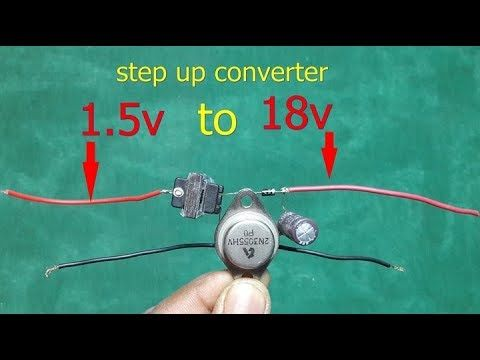 Make 1 5v To 18v Stepup Converter Easy At Home Youtube Electronics Projects Electronics Projects Diy Diy Electronics