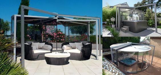 Un lieu de vie convivial abritant #spa, #jardin d'hiver et permettant d'offrir cette dimension de prestige à votre espace outdoor. #maison  http://www.abrisud.com/abris-spa